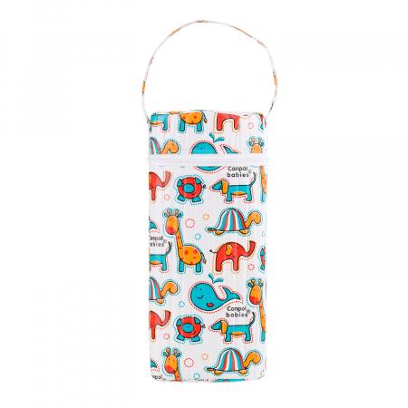 """Izolator din material moale pentru biberoane """"Colourful Animals"""" varianta 2, multicolor0"""