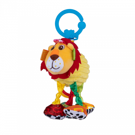 Leul Leon, Bali Bazoo, jucarie din plus cu vibratii, inele, fosnaitoare si chitaitoare, multicolora0