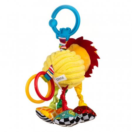 Leul Leon, Bali Bazoo, jucarie din plus cu vibratii, inele, fosnaitoare si chitaitoare, multicolora3