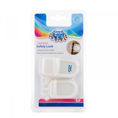 Încuietoare de siguranță pentru sertare, alb [5]