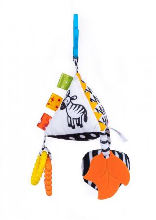 Piramida senzoriala, Bali Bazoo, jucarie din plus cu sunatoare, inele, chitaitoare, inel gingival, multicolora1