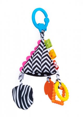 Piramida senzoriala, Bali Bazoo, jucarie din plus cu sunatoare, inele, chitaitoare, inel gingival, multicolora4