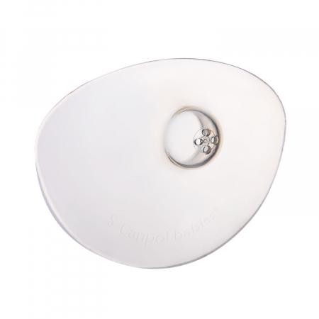 Set 2 protectii pentru mamelon, Canpol babies®, marimea S, silicon, fara BPA [1]