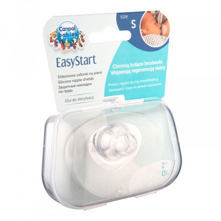 Set 2 protectii pentru mamelon, Canpol babies®, marimea S, silicon, fara BPA [0]