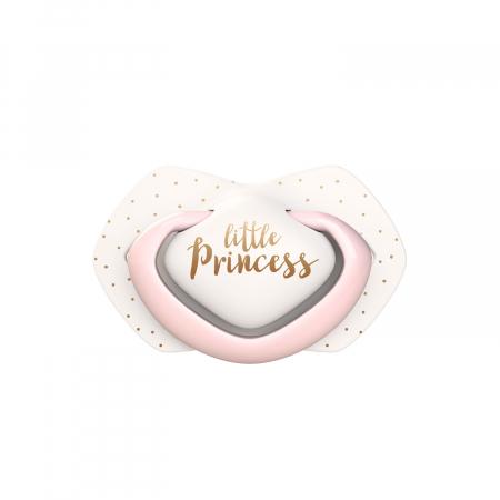 """Set 2 suzete """"Royal Baby"""" cu tetina simetrica silicon, roz [2]"""