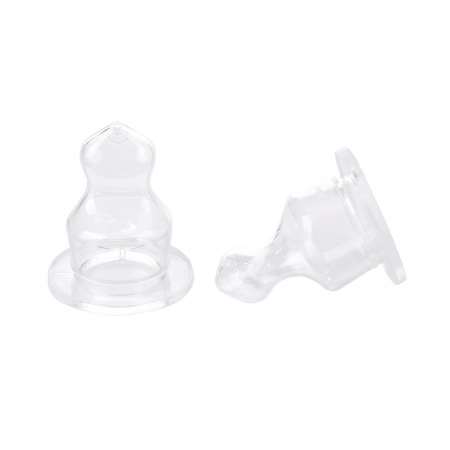 Set 2 tetine ortodontice pentru biberoane cu gat ingust, Canpol Babies®, silicon [1]