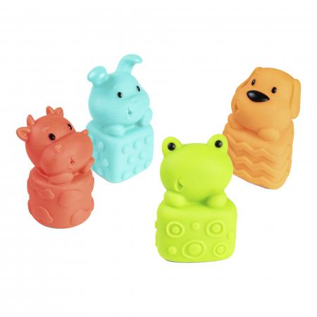 Set 4 jucarii pentru baie, fara BPA, multicolor0