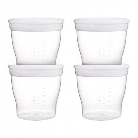 Set 4 recipiente pentru stocarea laptelui matern sau a hranei, Canpol babies®, sistem de inchidere etans, fara BPA0