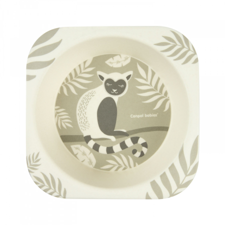 "Set de masa, Canpol babies®, ""Lemur"", 5 piese, bambus, bej [6]"