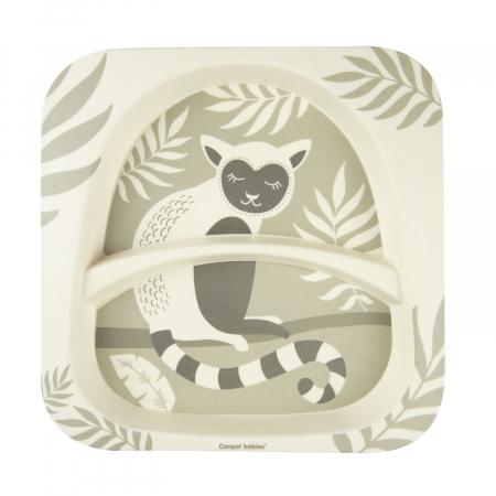 "Set de masa, Canpol babies®, ""Lemur"", 5 piese, bambus, bej [8]"