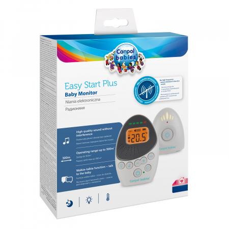 "Sistem bidirectional de monitorizare audio bebelusi, ""EasyStart Plus"", Canpol babies®, alb/gri5"