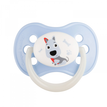 "Suzeta ""Animals"" cu tetina rotunda silicon, Canpol babies®, fara BPA, 18 luni + [0]"