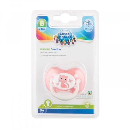 "Suzeta ""Animals"" cu tetina rotunda silicon, Canpol babies®, fara BPA, 6-18 luni [2]"