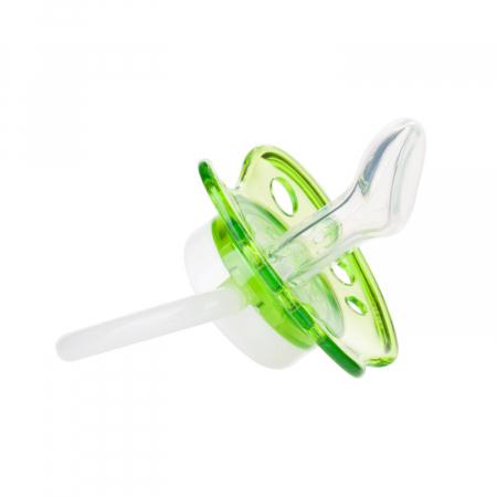 "Suzeta ""Toys"" cu inel fosforescent si tetina ortodontica silicon, fara BPA, 0-6 luni [1]"