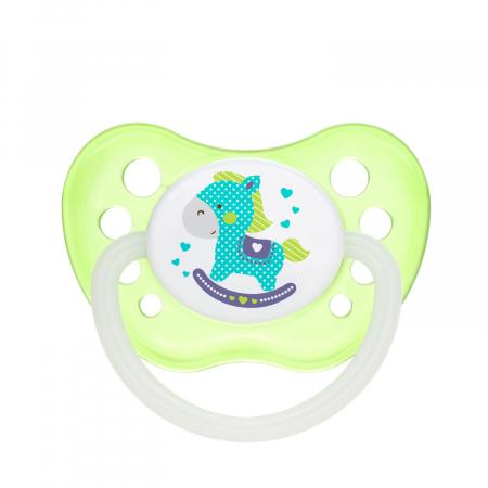 "Suzeta ""Toys"" cu inel fosforescent si tetina ortodontica silicon, fara BPA, 0-6 luni [0]"
