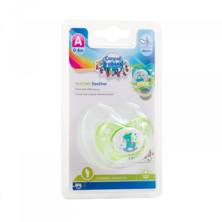 "Suzeta ""Toys"" cu inel fosforescent si tetina ortodontica silicon, fara BPA, 0-6 luni [2]"