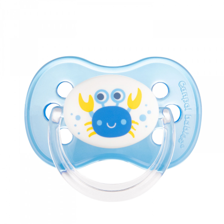 "Suzeta ""Nature"" cu tetina rotunda latex, Canpol babies®, fara BPA, 6-18 luni, albastru0"