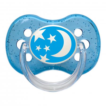 "Suzeta ""Nature"" cu tetina rotunda silicon, Canpol babies®, fara BPA, 6-18 luni, albastru0"