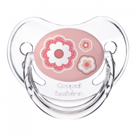 "Suzeta ""Newborn Baby"" cu tetina ortodontica silicon, Canpol babies®, fara BPA, 0-6 luni, roz0"
