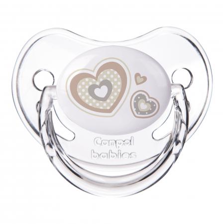 "Suzeta ""Newborn Baby"" cu tetina ortodontica silicon, Canpol babies®, fara BPA, 6-18 luni, bej0"