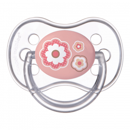 "Suzeta ""Newborn Baby"" cu tetina simetrica silicon, Canpol babies®, fara BPA, 0-6 luni, roz0"