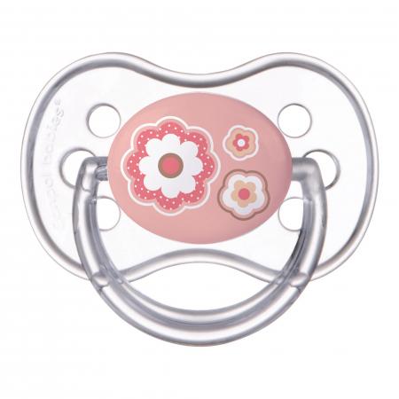 "Suzeta ""Newborn Baby"" cu tetina simetrica silicon, Canpol babies®, fara BPA, 6-18 luni, roz0"