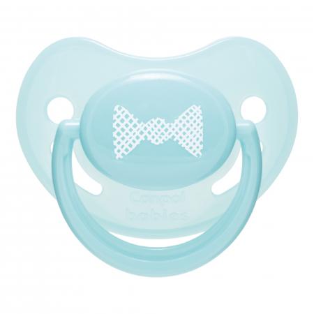 "Suzeta ""Pastelove"" cu tetina ortodontica silicon, Canpol babies®, fara BPA, 18 luni +, turcoaz0"