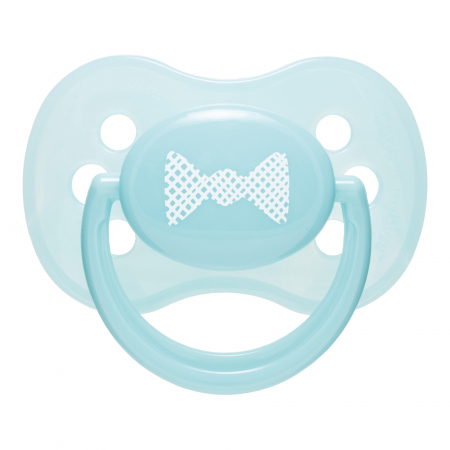 "Suzeta ""Pastelove"" cu tetina rotunda silicon, Canpol babies®, fara BPA, 18 luni +, turcoaz0"