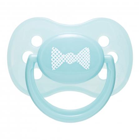 "Suzeta ""Pastelove"" cu tetina rotunda silicon, Canpol babies®, fara BPA, 6-18 luni, turcoaz [0]"
