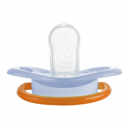 "Suzeta ""Racing"" cu tetina simetrica silicon, Canpol babies®, fara BPA, 6-18 luni, albastru4"