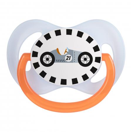 "Suzeta ""Racing"" cu tetina simetrica silicon, Canpol babies®, fara BPA, 6-18 luni, albastru3"
