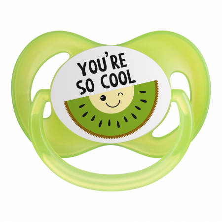 "Suzeta ""So Cool"" cu tetina simetrica silicon, Canpol babies®, fara BPA, 18 luni+, verde4"