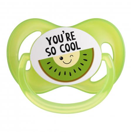 "Suzeta ""So Cool"" cu tetina simetrica silicon, Canpol babies®, fara BPA, 6-18 luni, verde2"