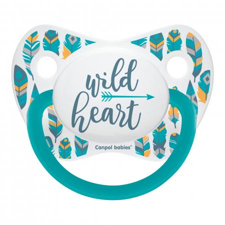 "Suzeta ""Wild Nature"" cu tetina ortodontica silicon, Canpol babies®, fara BPA, 6-18 luni, turcoaz0"