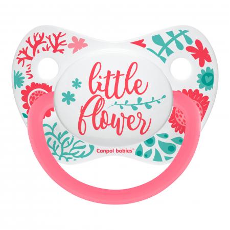 "Suzeta ""Wild Nature"" cu tetina ortodontica silicon, Canpol babies®, fara BPA, 0-6 luni, roz0"
