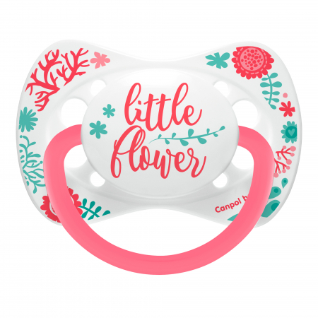 "Suzeta ""Wild Nature"" cu tetina simetrica silicon, Canpol babies®, fara BPA, 0-6 luni, roz0"