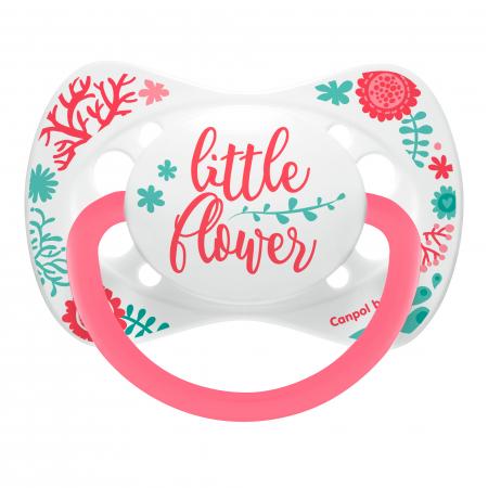 "Suzeta ""Wild Nature"" cu tetina simetrica silicon, Canpol babies®, fara BPA, 18 luni+, roz0"
