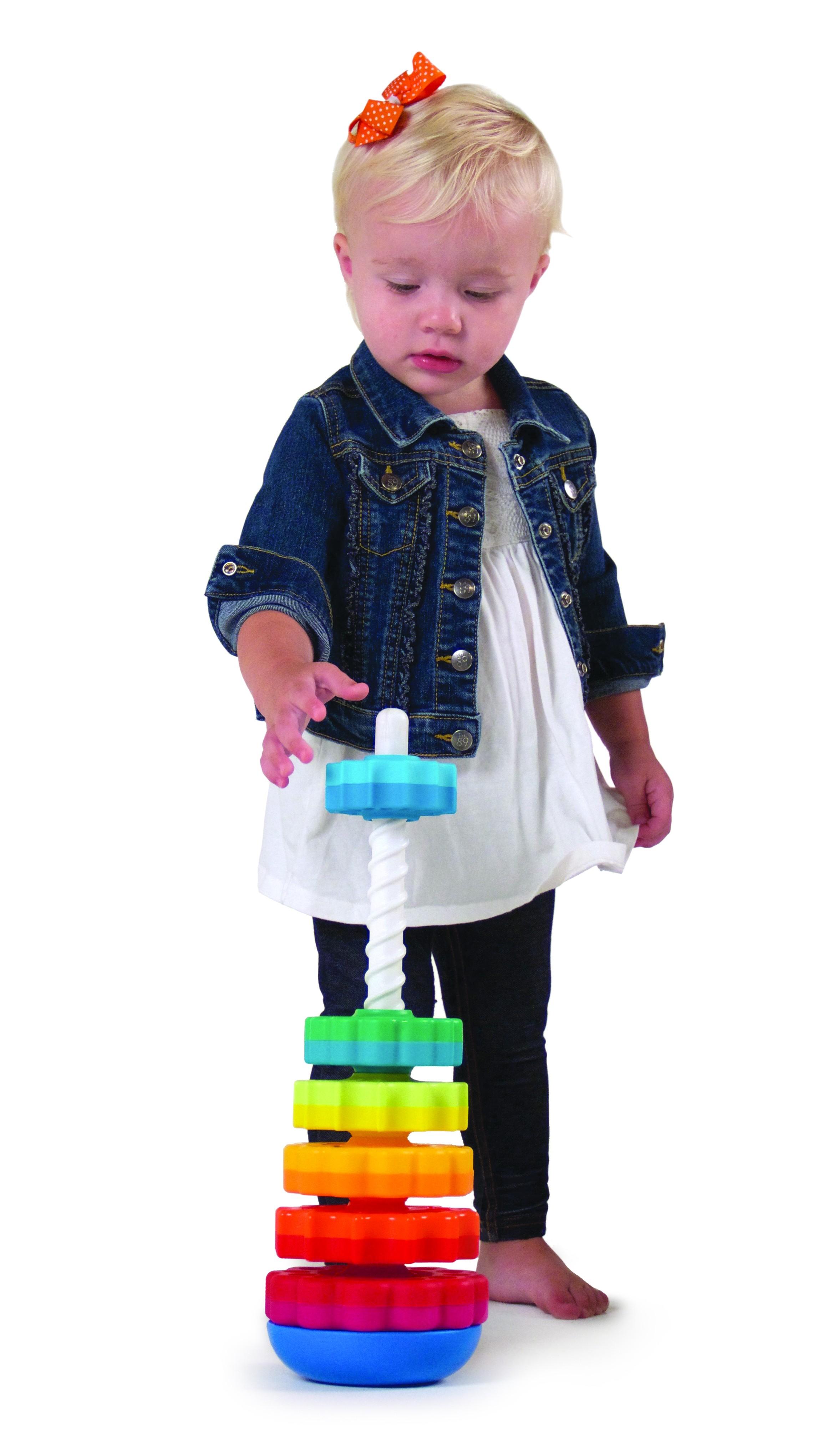 Piramida cu rotite pentru bebelusi - Fat Brain Toys9
