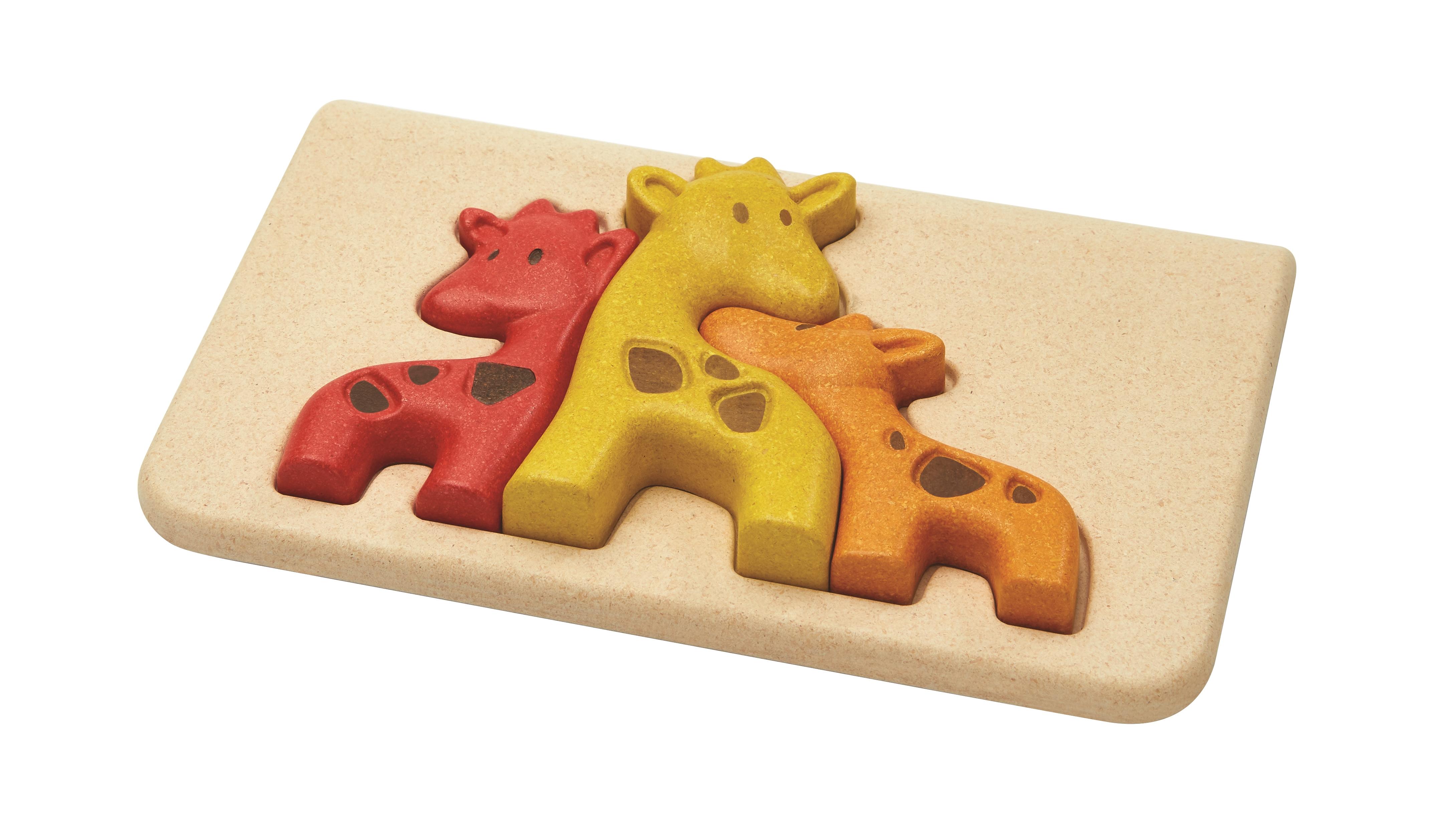 Puzzle din lemn cu girafe 1