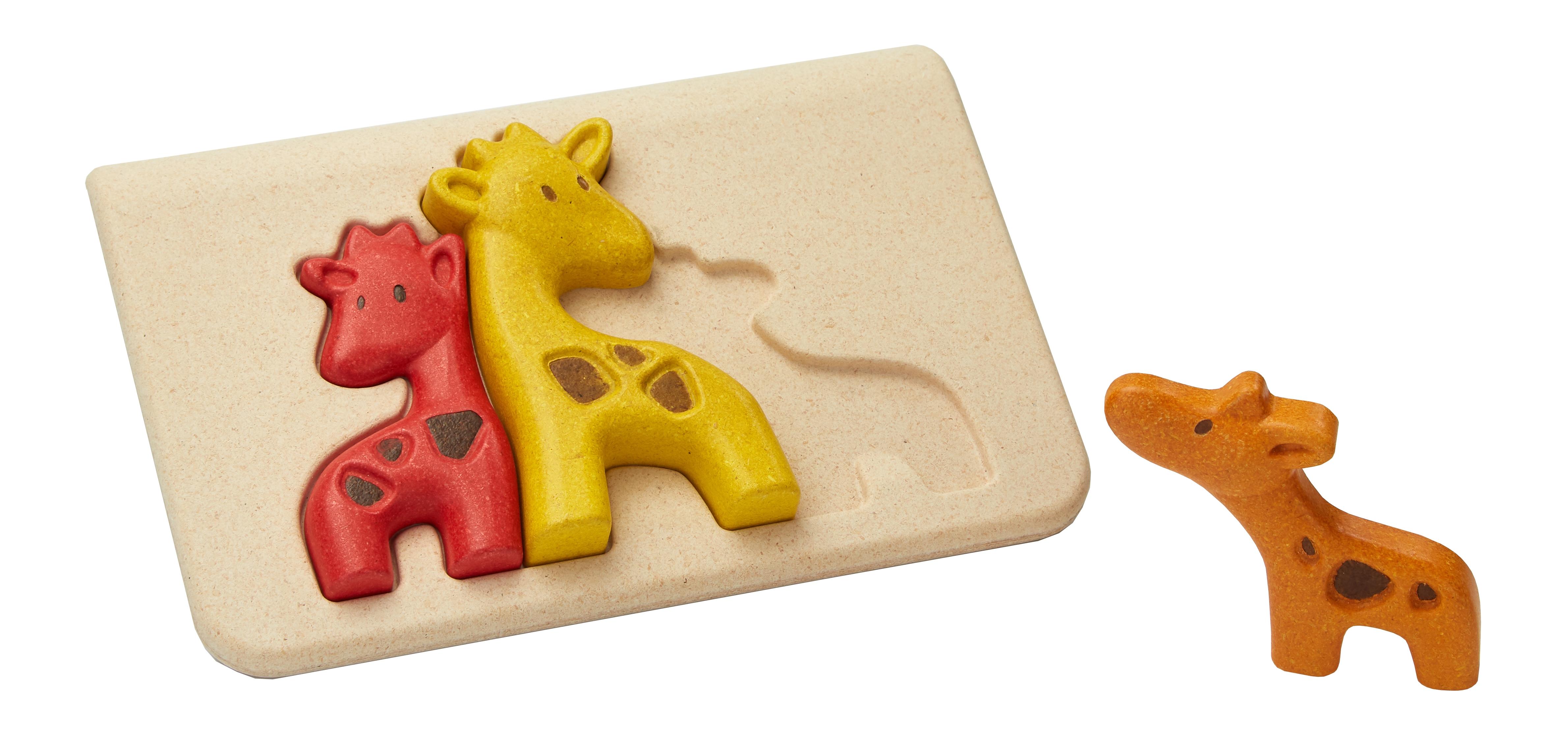 Puzzle din lemn cu girafe 0