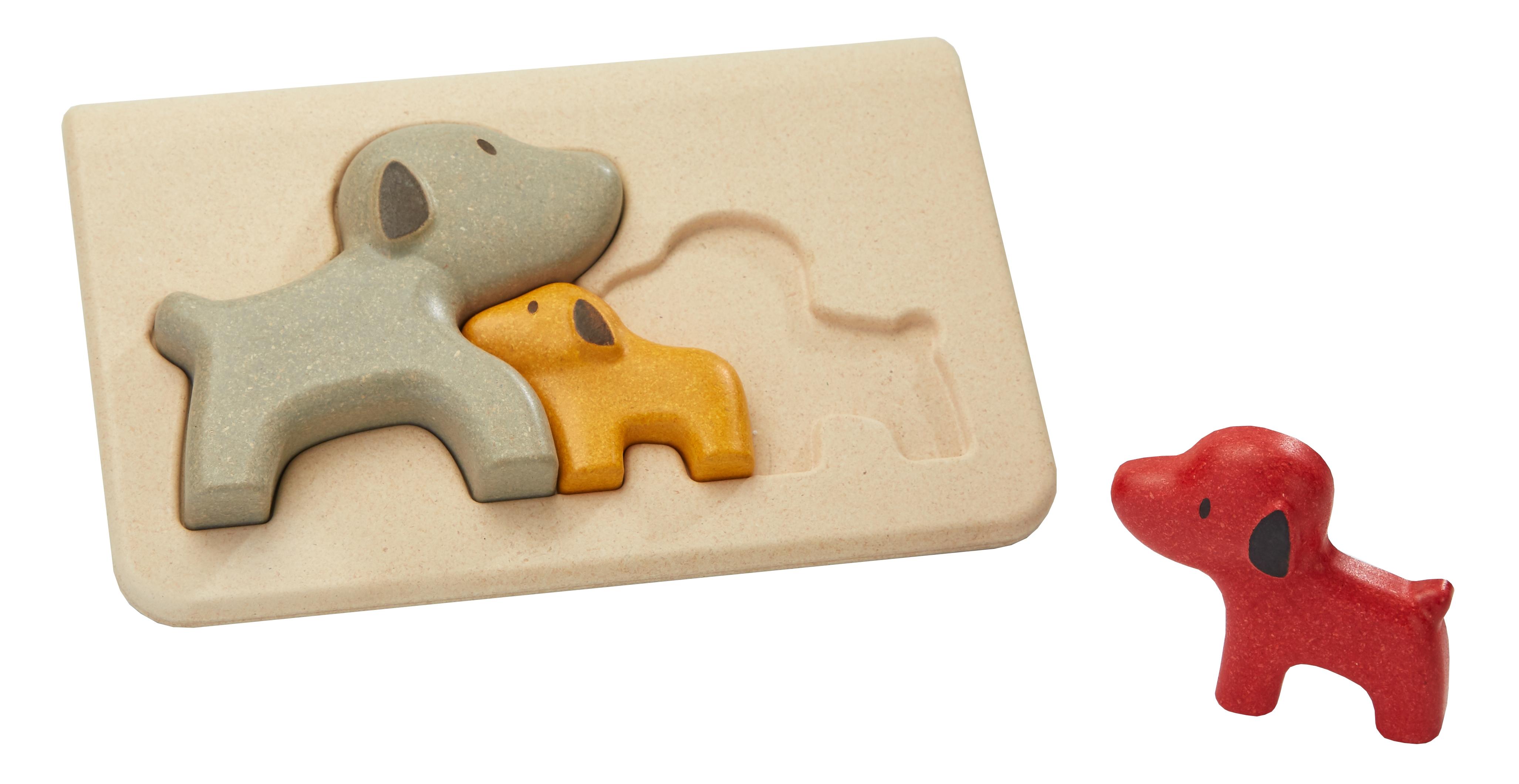 Puzzle din lemn cu catelusi 0