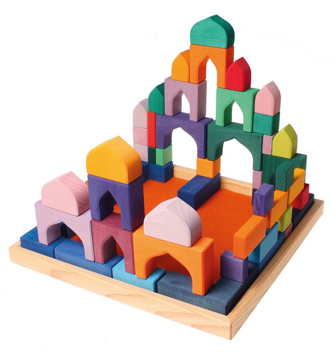 1001 Nopti fermecate - Set mare puzzle forme geometrice lemn 3