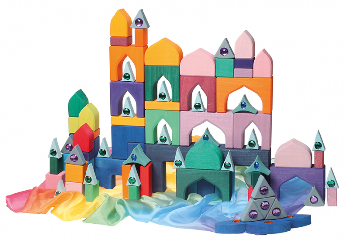 1001 Nopti fermecate - Set mare puzzle forme geometrice lemn 4