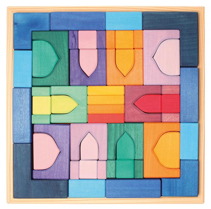 1001 Nopti fermecate - Set mare puzzle forme geometrice lemn 0