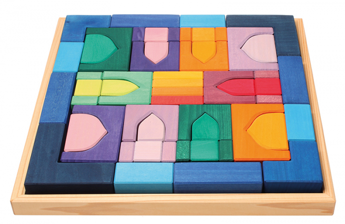 1001 Nopti fermecate - Set mare puzzle forme geometrice lemn 1
