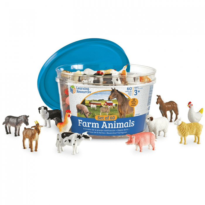 Set 60 Figurine - Animale de la ferma - Learning Resources 0