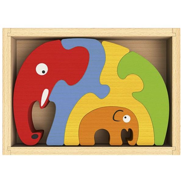 Puzzle familia de elefanti 0