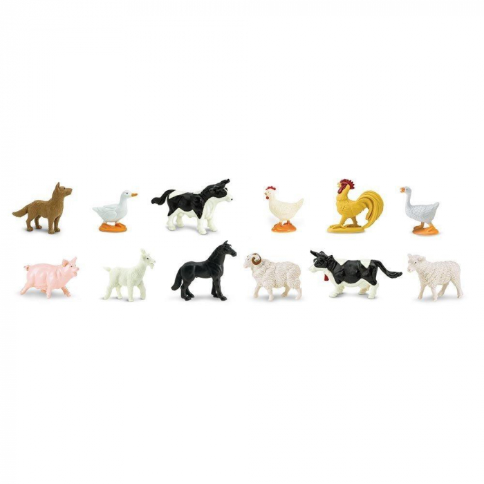 Animale de la Ferma - Safari - Set 12 Figurine