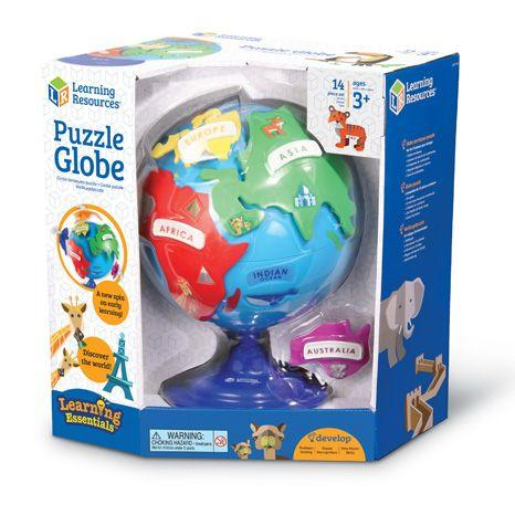 Puzzle interactiv - Glob pamantesc copii 0