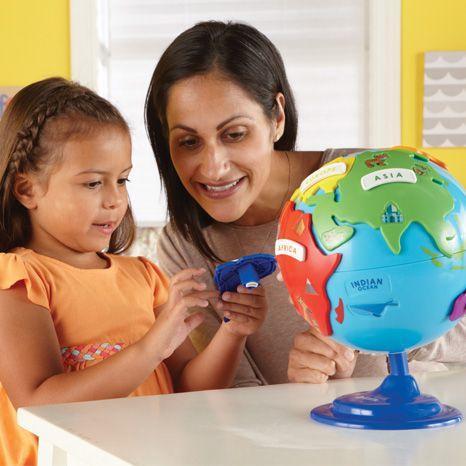 Puzzle interactiv - Glob pamantesc copii 2
